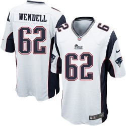 New England Patriots Ryan Wendell Official Nike White Game Adult Road NFL Jersey