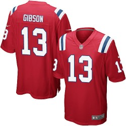 New England Patriots Brandon Gibson Official Nike Red Game Adult Alternate NFL Jersey