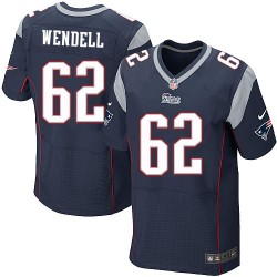 New England Patriots Ryan Wendell Official Nike Navy Blue Elite Adult Home NFL Jersey