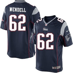 New England Patriots Ryan Wendell Official Nike Navy Blue Limited Adult Home NFL Jersey