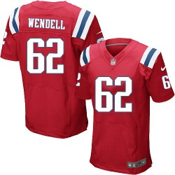 New England Patriots Ryan Wendell Official Nike Red Elite Adult Alternate NFL Jersey