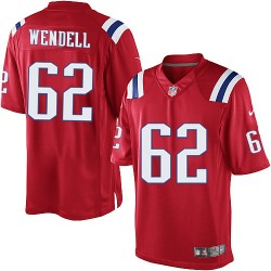 New England Patriots Ryan Wendell Official Nike Red Limited Adult Alternate NFL Jersey
