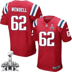 New England Patriots Ryan Wendell Official Nike Red Elite Adult Alternate Super Bowl XLIX NFL Jersey