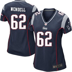 New England Patriots Ryan Wendell Official Nike Navy Blue Game Women's Home NFL Jersey