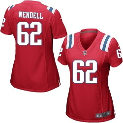 New England Patriots Ryan Wendell Official Nike Red Game Women's Alternate NFL Jersey