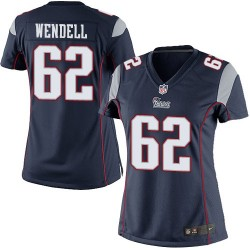 New England Patriots Ryan Wendell Official Nike Navy Blue Limited Women's Home NFL Jersey