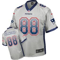 New England Patriots Scott Chandler Official Nike Grey Elite Adult Drift Fashion NFL Jersey