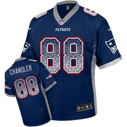 New England Patriots Scott Chandler Official Nike Navy Blue Elite Adult Drift Fashion NFL Jersey