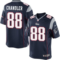 New England Patriots Scott Chandler Official Nike Navy Blue Limited Adult Home NFL Jersey