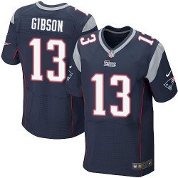 New England Patriots Brandon Gibson Official Nike Navy Blue Elite Adult Home NFL Jersey