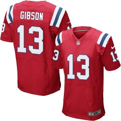 New England Patriots Brandon Gibson Official Nike Red Elite Adult Alternate NFL Jersey