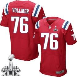 New England Patriots Sebastian Vollmer Official Nike Red Elite Adult Alternate Super Bowl XLIX NFL Jersey