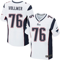New England Patriots Sebastian Vollmer Official Nike White Elite Adult Road NFL Jersey
