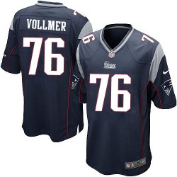 New England Patriots Sebastian Vollmer Official Nike Navy Blue Game Adult Home NFL Jersey