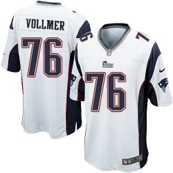 New England Patriots Sebastian Vollmer Official Nike White Game Adult Road NFL Jersey