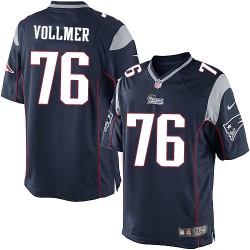 New England Patriots Sebastian Vollmer Official Nike Navy Blue Limited Adult Home NFL Jersey