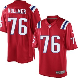 New England Patriots Sebastian Vollmer Official Nike Red Limited Adult Alternate NFL Jersey