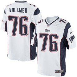 New England Patriots Sebastian Vollmer Official Nike White Limited Adult Road NFL Jersey