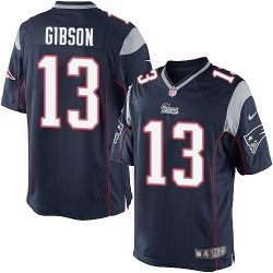 New England Patriots Brandon Gibson Official Nike Navy Blue Elite Youth Home NFL Jersey