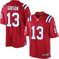 New England Patriots Brandon Gibson Official Nike Red Elite Youth Alternate NFL Jersey