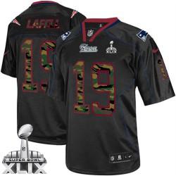 New England Patriots Brandon LaFell Official Nike Black Elite Adult Camo Fashion Super Bowl XLIX NFL Jersey