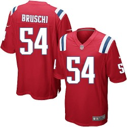 New England Patriots Tedy Bruschi Official Nike Red Game Adult Alternate NFL Jersey