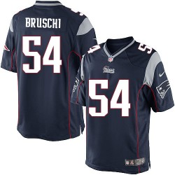 New England Patriots Tedy Bruschi Official Nike Navy Blue Limited Adult Home NFL Jersey