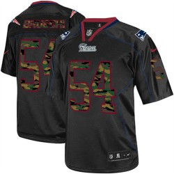 New England Patriots Tedy Bruschi Official Nike Black Elite Adult Camo Fashion NFL Jersey
