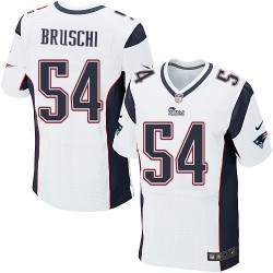 New England Patriots Tedy Bruschi Official Nike White Elite Adult Road NFL Jersey
