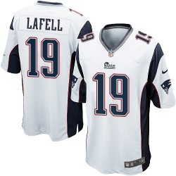 New England Patriots Brandon LaFell Official Nike White Game Adult Road NFL Jersey