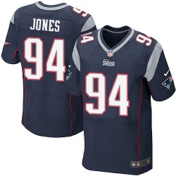 New England Patriots Chris Jones Official Nike Navy Blue Elite Adult Home NFL Jersey
