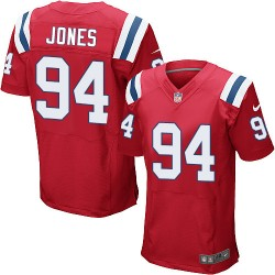 New England Patriots Chris Jones Official Nike Red Elite Adult Alternate NFL Jersey