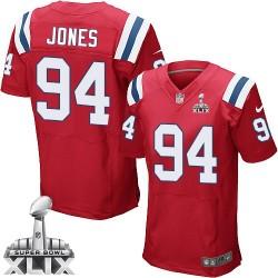 New England Patriots Chris Jones Official Nike Red Elite Adult Alternate Super Bowl XLIX NFL Jersey