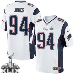 New England Patriots Chris Jones Official Nike White Limited Adult Road Super Bowl XLIX NFL Jersey