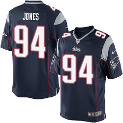 New England Patriots Chris Jones Official Nike Navy Blue Limited Adult Home NFL Jersey