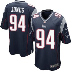 New England Patriots Chris Jones Official Nike Navy Blue Game Adult Home NFL Jersey