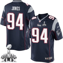 New England Patriots Chris Jones Official Nike Navy Blue Limited Adult Home Super Bowl XLIX NFL Jersey