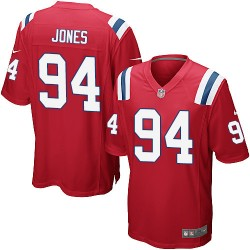 New England Patriots Chris Jones Official Nike Red Game Adult Alternate NFL Jersey