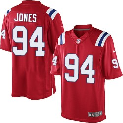 New England Patriots Chris Jones Official Nike Red Limited Adult Alternate NFL Jersey