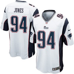 New England Patriots Chris Jones Official Nike White Game Adult Road NFL Jersey