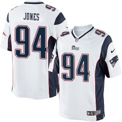 New England Patriots Chris Jones Official Nike White Limited Adult Road NFL Jersey