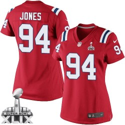 New England Patriots Chris Jones Official Nike Red Elite Women's Alternate Super Bowl XLIX NFL Jersey