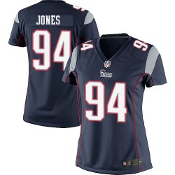New England Patriots Chris Jones Official Nike Navy Blue Elite Women's Home NFL Jersey