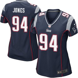 New England Patriots Chris Jones Official Nike Navy Blue Game Women's Home NFL Jersey