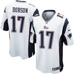 New England Patriots Aaron Dobson Official Nike White Game Adult Road NFL Jersey