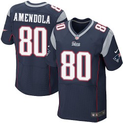 New England Patriots Danny Amendola Official Nike Navy Blue Elite Adult Home NFL Jersey