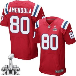New England Patriots Danny Amendola Official Nike Red Elite Adult Alternate Super Bowl XLIX NFL Jersey