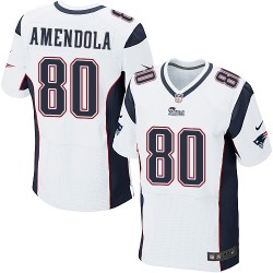 New England Patriots Danny Amendola Official Nike White Elite Adult Road NFL Jersey