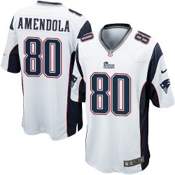New England Patriots Danny Amendola Official Nike White Game Adult Road NFL Jersey
