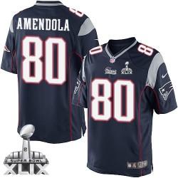 New England Patriots Danny Amendola Official Nike Navy Blue Limited Adult Home Super Bowl XLIX NFL Jersey
